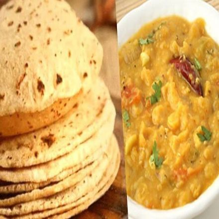 Chapathi with Dal Fry (3 No.s per set)