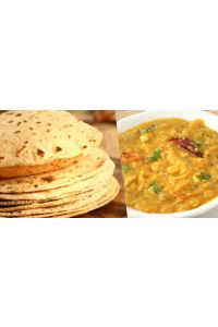 Chapathi with Dal Fry