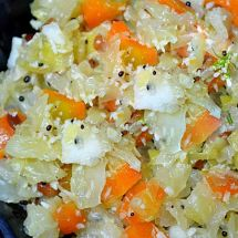 Cabbage Carrot Kootu